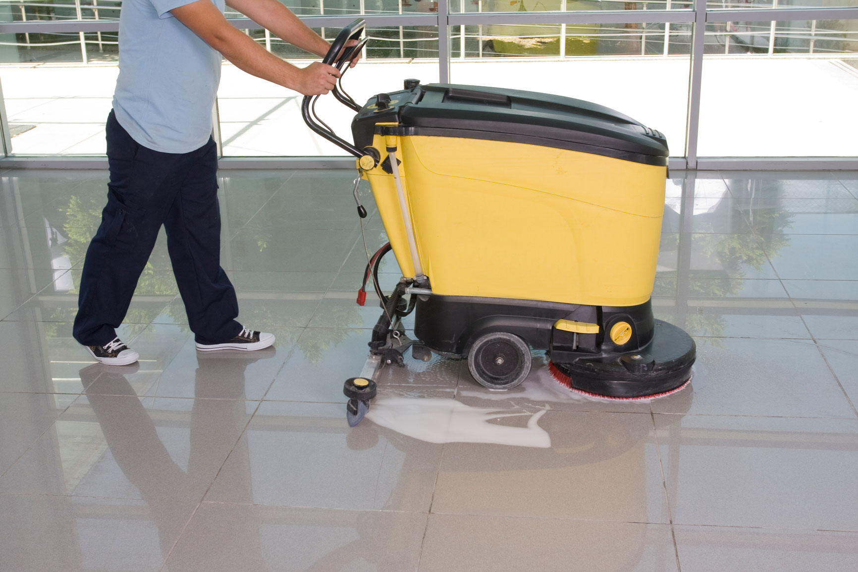 Cleanstrip stripping and resealing vinyl floors for Floor cleaning machine